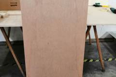 Braun-Klein Siebdruck: nachhaltiger Verkostungsstand
