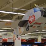 Bedrucktes Modellflugzeug
