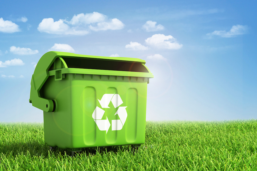 Gruene Recycling-Tonne