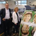 Oberbuergermeisterin zu Besuch bei Braun und Klein