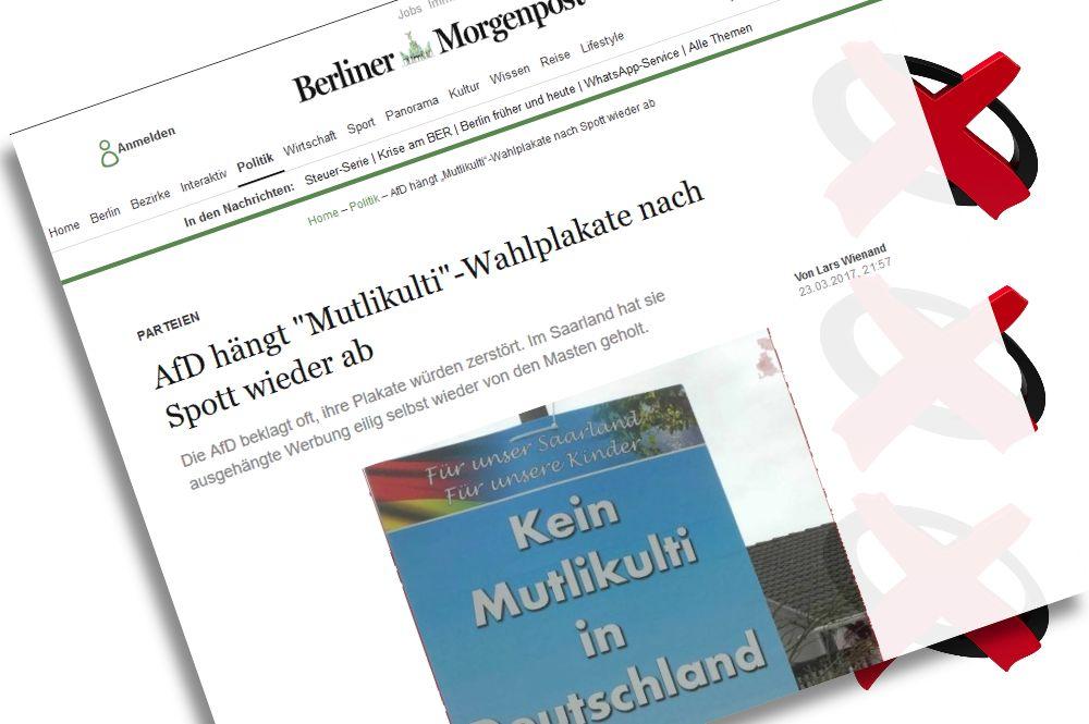 """Berliner Morgenpost: Zum """"Mutlikulti"""" bei der Landtagswahl im Saarland"""