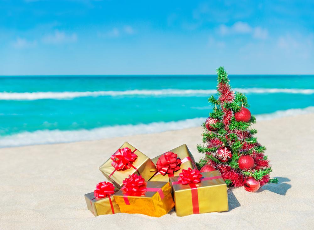 Weihnachtsbaum am Strand - PoS
