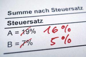 Braun-Klein Siebdruck: Mehrwertsteuersenkung