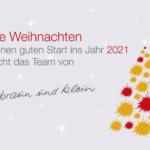 Braun-Klein Siebdruck: Weihnachtsgruß 2021